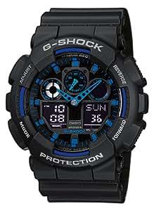 Casio G-Shock - Montre Homme Analogique/Digital avec Bracelet en Résine - GA-100-1A2ER