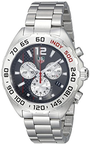 Tag Heuer formula 1CAZ1114.BA087742mm argento con cinturino e cassa in acciaio zaffiro sintetico orologio da uomo