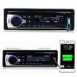 AGPtEK Autoradio USB/MP3 Player/AUX Anschluss/TF-Karte mit Bluetooth und Mikrofon inkl. Fernbedienung 12V - 5