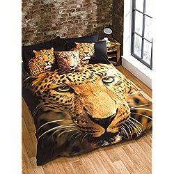 Rapport leopardo Funda de edredón conjunto, multicolor, doble