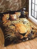 Rapport Ensemble de couette Leopard, Multicolore, double