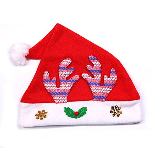 Reyqing Weihnachtsschmuck Kinder Cap Nach Hut Geschenk Geschenk Kopfbedeckung Santa Hut, Rosa Geweih