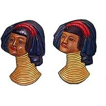 Discount étnico Máscaras Karen madera H28cm.