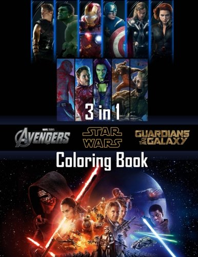 : Avengers, Guardians of the Galaxy, Star Wars (Batman Coloring Book)