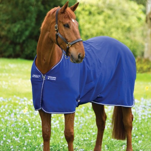 Horseware Amigo Jersey Cooler - Atlantic Blue with Atlantic Blue&Ivory, Groesse:145