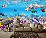 Tapeten Aquarium-Unterwasserwelt-Wand-Tapeten-Wandbild-Kundenspezifisches Foto Der Tropischen 3D