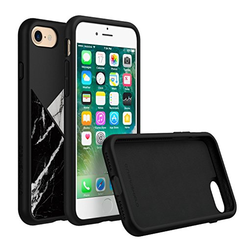 iPhone 7 Case, RhinoShield [SolidSuit Marble] Heavy Duty Shock Absorbent. Ultra Thin Scratch Resistant with. 11ft Drop Protection Rugged Cover - Marmo Nero Marmo Nero