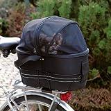 Das Heimtier Center Fahrradtasche für Kleine Hunde Farbe: Schwarz