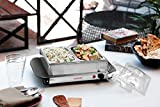 Clearline Food Warmer Cum Buffet Server with 2 Pans (2x1.5 L, Silver)