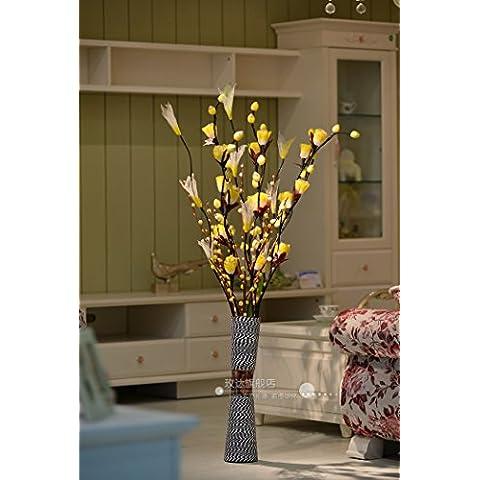 ShiQi Secado de Flores Artificiales amarillo planta Salón para bodas, banquetes Festival Decoración