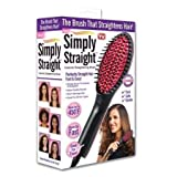 Fast Hot Hair Straightener Comb Brush Lcd Screen Flat Iron Styling