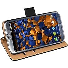 Mumbi - Funda de cuero estilo libro para Samsung Galaxy Note 2, color negro