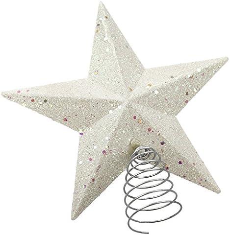 Weihnachtsbaum Stern-Spitzen weiß
