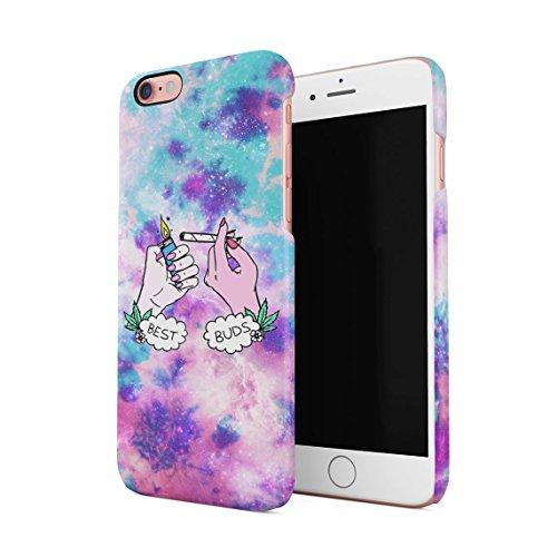 Best Buds Lighting Blunt Trippy Acid Space Dünne Rückschale aus Hartplastik für iPhone 6 & iPhone 6s Handy Hülle Schutzhülle Slim Fit Case Cover Handy Snap Case
