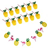 Sharplace Hawaiian Party Girlande mit Party Becher aus PVC für Hawaii Strand Sommer Party