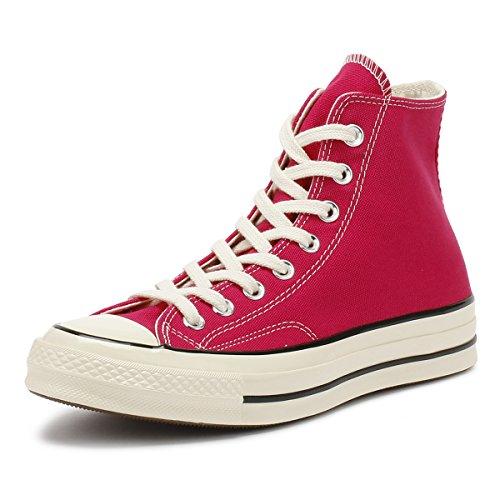 Converse Unisex-Erwachsene Taylor Chuck 70 Hi Sneakers Mehrfarbig (Pink Pop/Black/Egret 673) 41.5 EU (Hi-top Converse Pink)