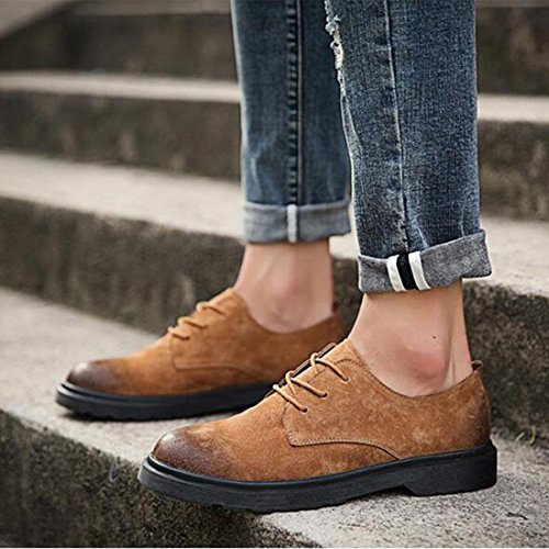 Scarpe casual da uomo, primavera, Inghilterra, scarpe casual da lavoro, suture brown