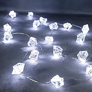 10 Silver Star Battery Operated LED Fairy Lights by Lights4fun