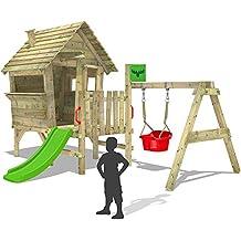 fatmoose casa sobre pilotes de joy xxl jugar a las casitas con tobogn y columpio