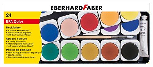Eberhard Faber 578124 Deckfarbkasten EFA Color, 24 Farben, Mehrfarbig