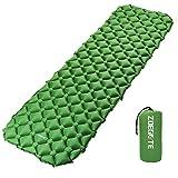 Speedsporting Camping Isomatte Kleines Packmaß - Ultraleichte Isomatte - Aufblasbare Luftmatratze - Schlafmatte fü (Grün Ohne Kissen)