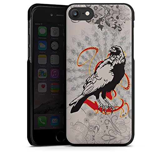 Apple iPhone X Silikon Hülle Case Schutzhülle Rabe Raven Crow Hard Case schwarz