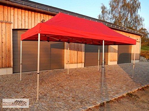 Zelt / Event-Pavillon / Falt-Pavillon rot 6x3 Meter mit Aluminiumgerüst