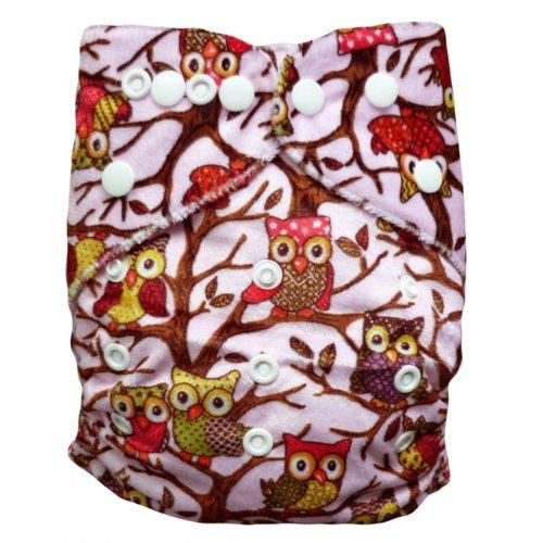 Baby Vivo Baby Bambus Windel Stoffwindel Babytuch Kinderwindel Windel Bambuswindel Mehrzweck Windel Waschbar Wiederverwendbar mit 2 Einlagen - Owls