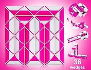 DIAN SHENG Brain Teaser 36-wedge Rubik's Twist Transformable Snake Wand (Rose Red)