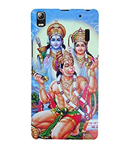 Bhagwan Hanuman 3D Hard Polycarbonate Designer Back Case Cover for Lenovo K3 Note :: Lenovo A7000 Turbo