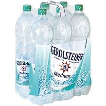 Gerolsteiner Medium / Natürliches Mineralwasser mit wenig Kohlensäure und wertvollem Calcium und Magnesium / 6 x 1,5 L PET Einweg Flaschen