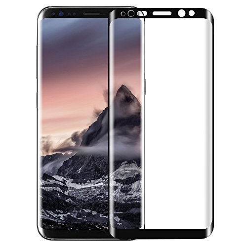 Samsung galaxy S8 Screen Protector, KKtick Samsung galaxy S8 Tempered Glass [High Defintion][9H Hardness]Screen Protector for Samsung galaxy S8 Clear HD Anti-Bubble Film (1 Pack)-black Test