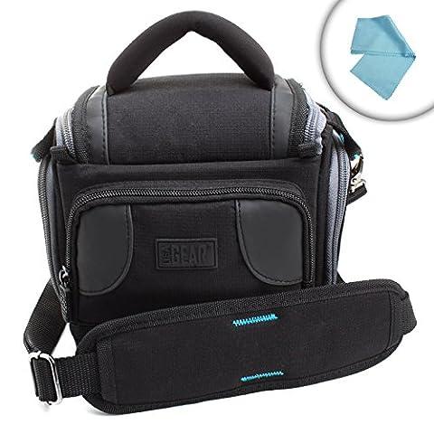 USA GEAR Sacoche Etui Appareils Photo Numériques Réflex - Nikon D3300 , D5300 / Canon EOS 700D , 1300D / Pentax Et bien Plus - Chiffon Microfibre