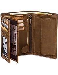 Noah Noir® Geldbeutel Hochformat (15 Kartenfächer) TÜV geprüfter RFID Schutz - mit großem Münzfach (in 3 Farben) mit Edler Geschenkbox