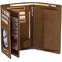 0af48e3da4b92 Geldbeutel Hochformat - 15 Kartenfächer TÜV geprüft - RFID Schutz – Großes  Münzfach - Ideal als