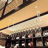 Wine Rack - Weinschale Rack Glashalter Schmiedeeisen hängen Becher umgedreht Home Bar Stemware Frame Felice Home (Farbe : Weiß)