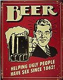Cartel de chapa 'Cerveza', Tamaño: 30 x...