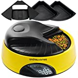 Andrew James 4 Day / Meal Automatic Pet Feeder / Bowl with voice recorder Includes 2 Volume Reducers   1 Adapter Tray