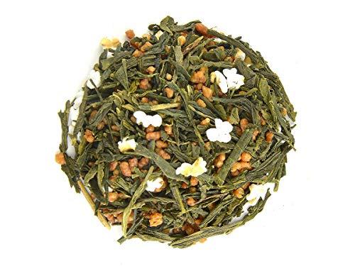 Japanischer Grüner Tee Genmaicha Yukihime, BIO-zertifiziert, Premium. 100 g, lose, nicht aromatisiert. Aus kleinem Tee-Garten Präfektur Yame/Fukuoka. Feinster japanischer Sencha, Natur-Reis, geröstet und gepufft. Mild mit Röst-Aromen (Jasmin Frei Tee Koffein Grüner)
