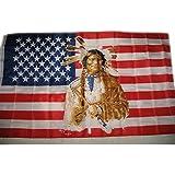 États-Unis d'Amérique Rouge 5 'x3'Drapeau indien