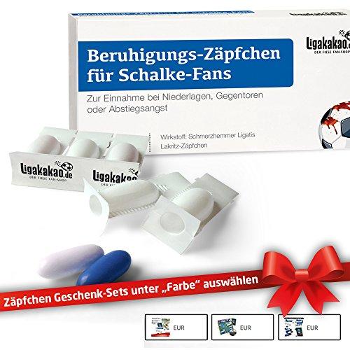 FC Schalke 04 Geschenk Männer ist jetzt BERUHIGUNGS-ZÄPFCHEN® für Schalke 04-Fans by Ligakakao.de