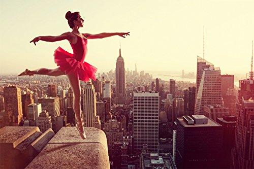 Ballett Tanz New York Skyline XXL Wandbild Kunstdruck Foto Poster P0785 Größe 90 cm x 60 cm, Größe 90 cm x 60 cm