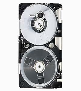 ColourCraft Retro Video Cassette Design Back Case Cover for SONY XPERIA SP