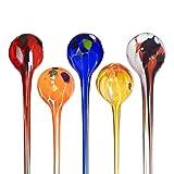 """Bewässerungskugel, Durstkugel """"GARTENFLAIR"""" brombeer, H=22cm, Ø=5 cm, mundgeblasen und handgeformtes Glas Unikat (ART GLASS powered by CRISTALICA)"""