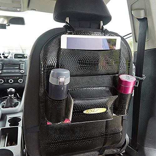 FDSPY Auto Organizer,Universal, Kids Kick Mats, Auto-Van-Rückenprotektoren mit iPad-Halter, Familienausflug-Reisezubehör (1 Stück),Black