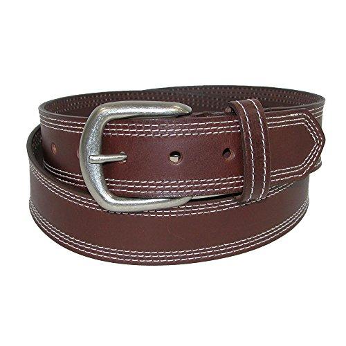 Boston Leather Herren Gürtel braun braun Einheitsgröße Gr. 120, braun - Boston Echte Gürtel