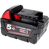 Batterie pour meuleuse à disc sans fil Milwaukee M18 CAG125X original, 18V, Li-Ion [ Batterie outil électroportatif ]