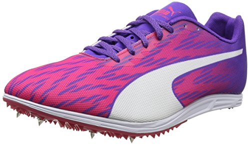 Puma Evospeed Distance 7 Wn, Zapatillas de Atletismo para Mujer, Rosa (Sparkling Cosmo-Electric Purple-Puma White), 39 EU
