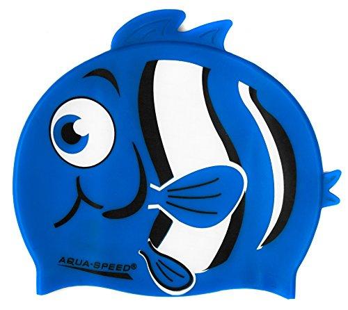 Aqua speed zoo animale junior (cuffia di bagno per bambini 100% silicone), colore:nemo