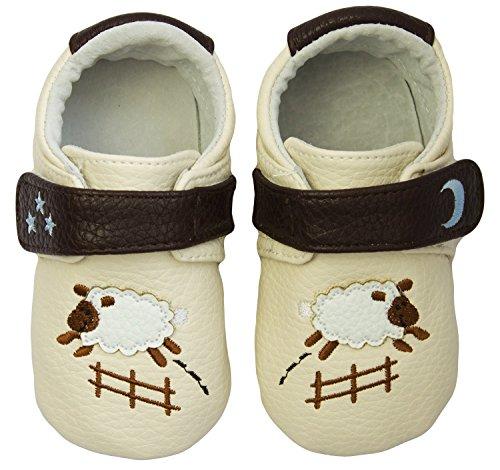 Rose & Chocolat RCM Goodnight Sheep Baby Mädchen Krabbelschuhe & Puschen Sneaker Beige (Cream)